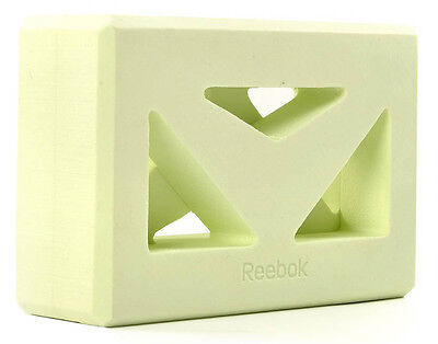 REEBOK - Shaped Yoga Block  Fitness Gym Workout Stretching  - Green
