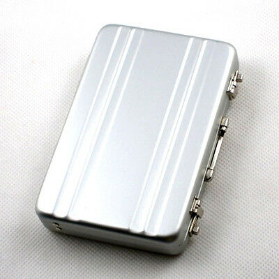 Mini Brief Case Credit ID Card Holder Aluminium Metal Business Wallet Xmas Gift