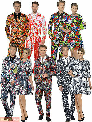Couples Halloween Stand Out Suit Costume Mens Ladies Fancy Dress Unusual Outfit
