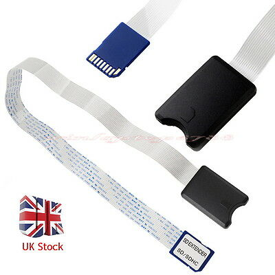 SD To SD Card Extension Cable Adapter Flexible Extender Connector For Car GPS UK