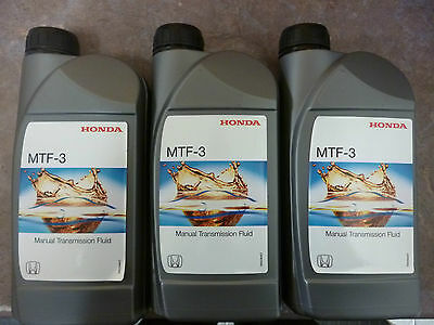 Genuine Honda MTF-3 Gearbox Oil Fluid 3x1Lt (Civic Jazz Accord CRV HRV S2000)
