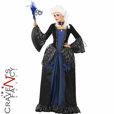 Ladies Baroque Beauty Masquerade Costume Halloween Womens Fancy Dress Outfit New