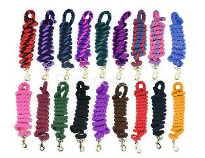 FREE P&P Amazing Cotton Horse Lead Rope With Trigger Clip 16 Colours 2 Metres!!