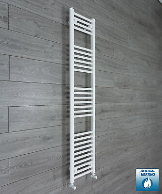 300 mm Wide 1600 mm High Flat White Heated Towel Rail Radiator Bathroom Kitchen