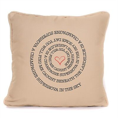 Oasis Noel Gallagher Throw Pillow Cushion Champagne Supernova Lyrics Home Gift