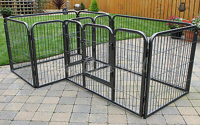Heavy Duty Double Dog Pen Cage Puppy Crate Whelping Rabbit Playpen Enclosure Run