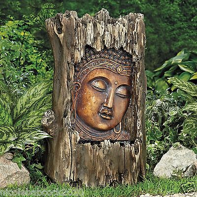 Home Garden Buddah Water Fountain Soothing Sounds Relaxation Decor - Great Color