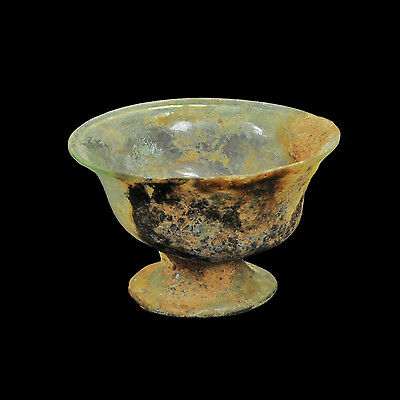 Aphrodite- Ancient Roman Footed Glass Bowl