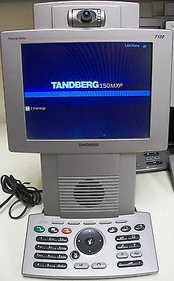 Cisco Tandberg T150 (TTC7-10) 150MXP Personal Video Conference VoIP Phone no PA