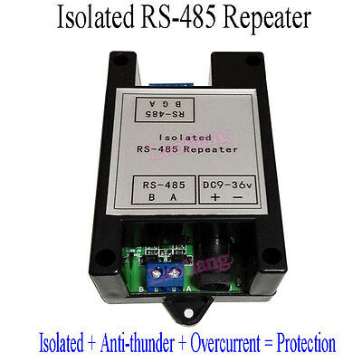 Isolated RS 485 Repeater Isolator Signal Amplifier Distance Extender with Case D