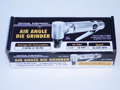 Central Pneumatic Air Angle Die Grinder ~ New in Box