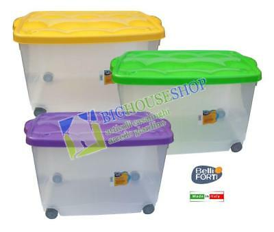 STORAGE BOX 60X40X36 COLORI ASSORTITI Storage Box, Plastica, Salvaspazio, Conten