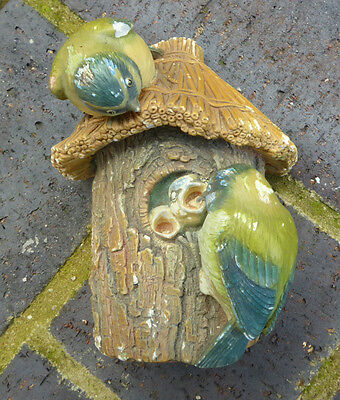 Vintage Bossons Wall Hanging Head Blue Tits Birds Plaque