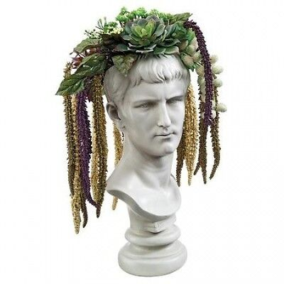 Design Toscano Bust Planter of Antiquity Emperor Caligula Statue. Delivery is Fr