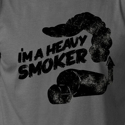 I'M A HEAVY SMOKER bbq grilling smoking barbeque meat funny T-Shirt