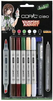 COPIC CIAO Marker 5+1 Set VAMPIRE KNIGHT 22075567 Hobby Multiliner Markerset