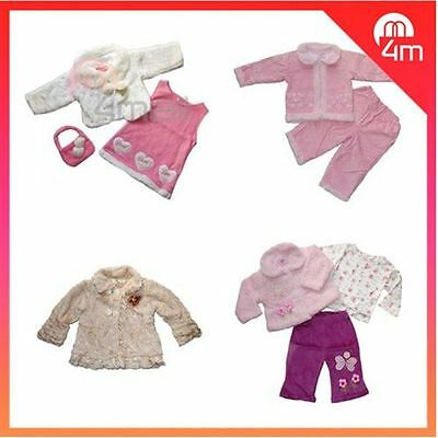 Kids Girls Babies Winter Long Sleeve Outfits Skirt Trousers Party Wear Sets Sz