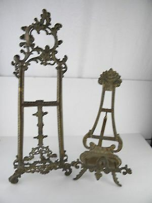 Brass Easels Lot 2 Display Easels Picture Frame Holder Book Stand