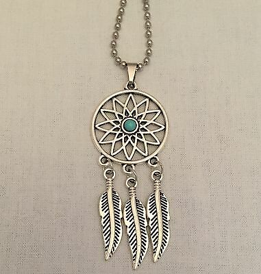 Dream Catcher Pendant Metal Native American Steel Necklace Lucid Dreaming Day