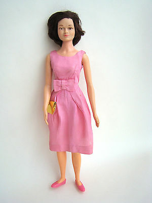 """Remco Judy Littlechap 13"""" Doll in Pink Party Dress bell-shaped skirt Shoes Purse"""