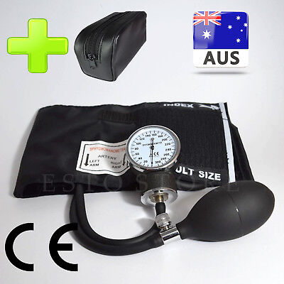 Manual Blood Pressure Machine Heart Rate Monitor Pulse Checker * Brand New * AUS