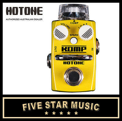 Hotone Komp Compressor Guitar Effects Pedal Ho-Komp Scs-1 - New In Box