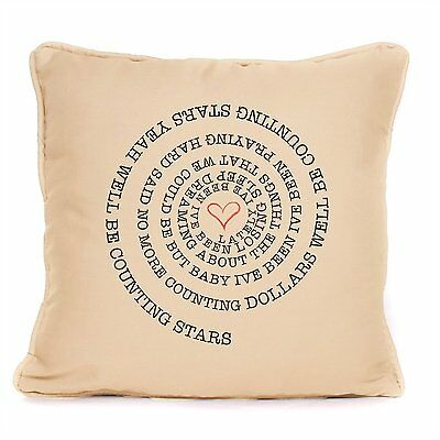 One Republic Cotton Cushion Counting Stars Song Lyrics Decorative Home Gift Idea