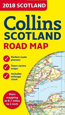 2017 Collins Map of Scotland (Collins Maps)