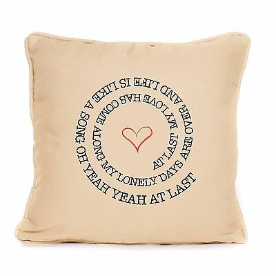 Etta James At Last Pillow Cushion Gift Song Lyrics Decorative Perfect Home Idea