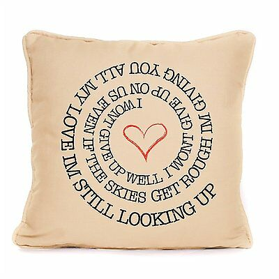 Jason Mraz I Won't Give Up Pillow Cushion Gift Song Lyrics Wedding Anniv Love