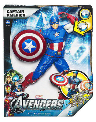 Marvel Avengers Power Attack Captain America 10 Inch Action Figure With Shield!