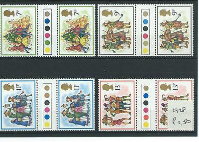 wbc. - GB - COMMEMS - 1978 - CHRISTMAS  - T/L GUTTER PAIRS - UNM MINT SETS