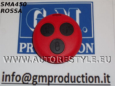 Cover Red Smart Fortwo 450 3 Buttons For Remote Control - Usa Your Key Original