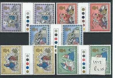 wbc. - GB - COMMEMS - 1979 - CHRISTMAS - T/L GUTTER PAIRS - UNM MINT SETS