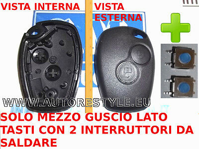 2 switch + Shell cover key only buttons DACIA DUSTER LOGAN SANDERO LODGY