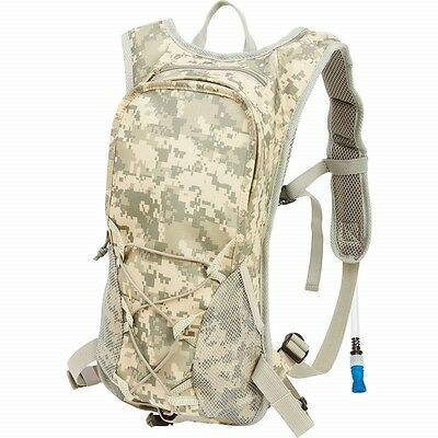 Camo HYDRATION BACKPACK Bag Pack Hiking Camping Daypack Camelback Water Bladder