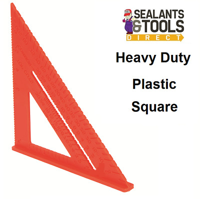 Heavy Duty Hard Plastic Carpenters Square 178mm Roof Marking Out Square