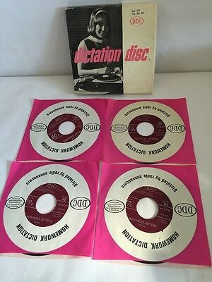 Dictation Disc DDC Shorthand Speed Development 45RPM RECORDS  410