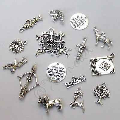 Game Of Thrones Jewelry Pendant Charms 15PCs Mix CM0612 - 15, 30, 45 Or 60PCs