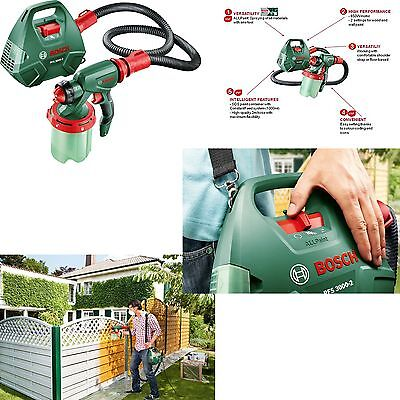 Electric Paint Sprayer Spray System Gun Fence Painting Wall Wood Bosch PFS3000