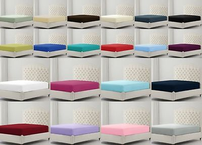 Percale Non Iron Fitted, Flat & Valance Bed Sheets and Pillow Cases All Sizes