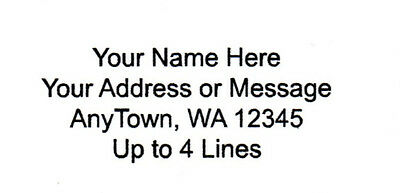 """30 Personalized Return/Mailing Address labels  1"""" x 2.625"""" - Free USA Shipping"""