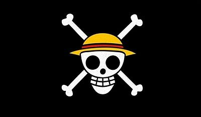 One Piece jolly roger Crest TCG playmat, gamemat 60cm wide 36cm tall for trading