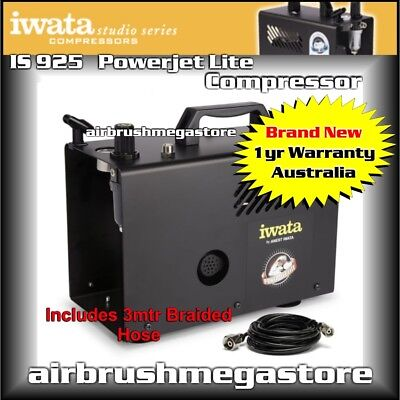 New Iwata Powerjet Lite Studio Series Air Compressor IS.925 + Free Insured Post