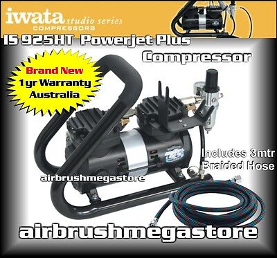 New Iwata Powerjet Plus Studio Series Air Compressor IS.925HT +Free Insured Post