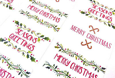 Merry Happy Christmas Stickers Labels for Cards Envelopes & Festive Craft X50302