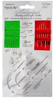 Dazzle-It Assorted Beading & Craft Needles - 20 items