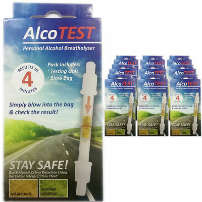 AlcoTest Personal Alcohol Breath Tester Detector Police Breathalyser Driver Tes