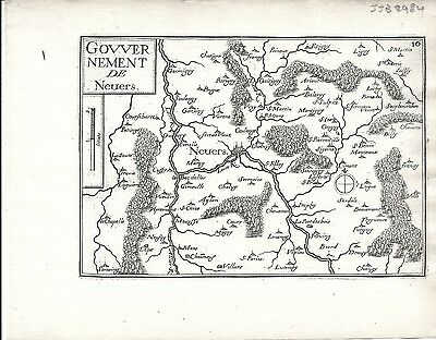 Antique maps, Gouvernement de Nevers