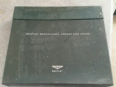 Rare Bentley Brooklands Arnage And Azure Sales Brochure Boxed 4 Books
